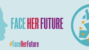 #Face her future campaign banner