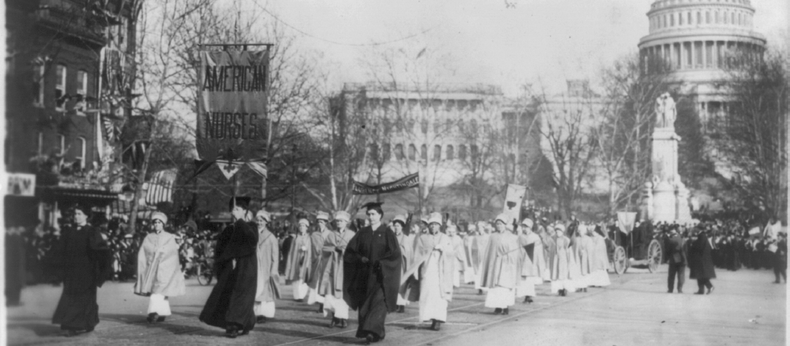 Suffragette protest
