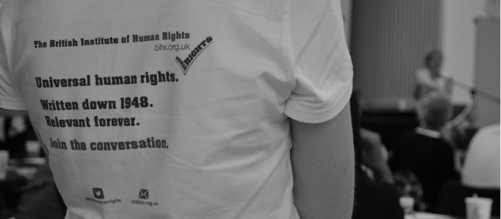 BRITISH INSTITUTE HUMAN RIGHTS TSHIRT