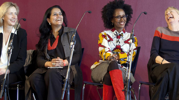 Photo of four speakers at Spirit of Women Conference
