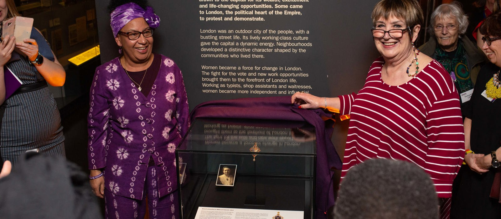 In photos: unveiling Millicent Fawcett's brooch
