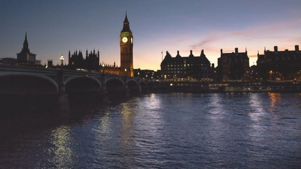 Parliament and the river Thames at sunset