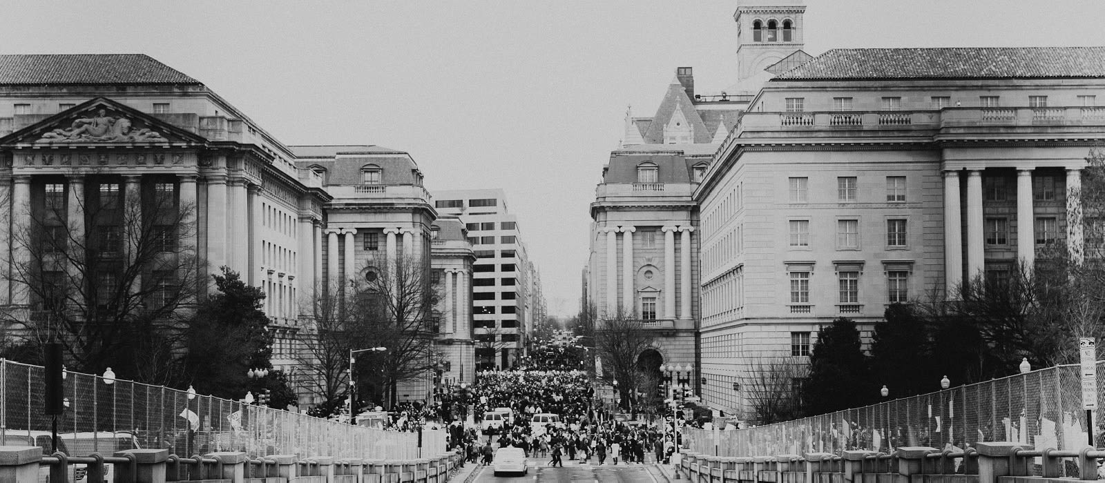Picture of womens march in town